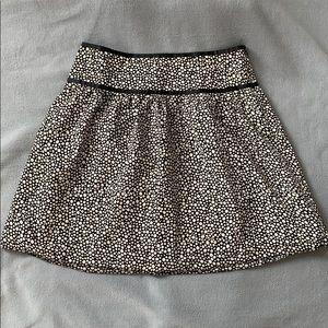 Black and white polka dot skirt